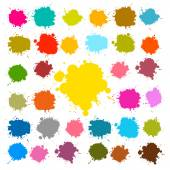 Vector Splashes - Blots - Stains Set — Stock Vector