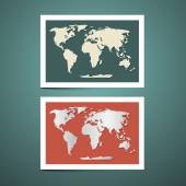 World Map Vector Set — Stock Vector