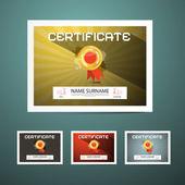 Certificate Vector Illustration Set — Stock Vector
