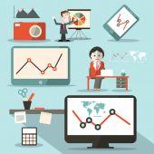 Technology Vector Social Media Objects — Vetorial Stock