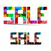 Sale Colorful Vector Title — Stock Vector