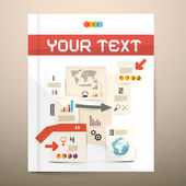 Brochure Cover Design - Infographics Vector Layout - Template Publication — Stock Vector