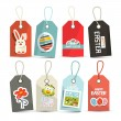 Vector Easter Isolated Tags - Labels with String Set — Stock Vector #63791143