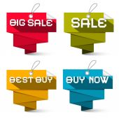 Sale Vector Labels Set Isolated on White Background — Stock Vector