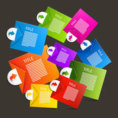 Colorful Vector Paper Sheets - Labels Infographics Design — Vecteur