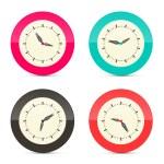Retro Alarm Clock Set Illustration Isolated on White Background — Stock Vector #73756661