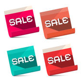 Sale Titles on Notebook Bent Paper Sheets Set - Vector — Stock Vector