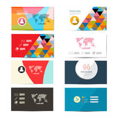 Vector Paper Business Card Template - Layout Set — Stock Vector