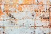 Wall texture tiles gray orange hues — Stock Photo