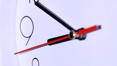 Office close up of an office clock. slow motion — Stock Video