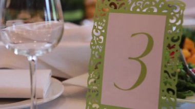 Reception Table Number — Stock Video