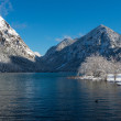 Cold mountain lake in austrian alps at winter — Stock Photo #62723605