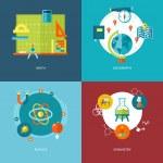 Reihe von flaches Design Konzepte Schule Themen icons — Stockvektor  #52327823