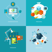 Vector school and education icons set. — Stock Vector