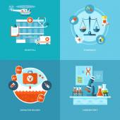 Vector medical and health icons set for web design, mobile apps. — Stockvector