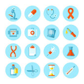 Set of flat vector medical icons. — Stock Vector