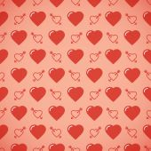 Lovely heart romantic pattern. Seamless vector background. — 图库矢量图片