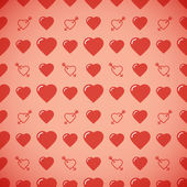Lovely heart romantic pattern. Seamless vector background. — Stockvektor