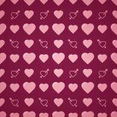 Lovely heart romantic pattern. Seamless vector background. — Stock Vector