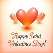 Stylish Happy Valentine Day postcard. — Stock Vector