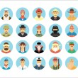 Persons icons collection. Icons set illustrating people occupations, lifestyles, nations and cultures. — Stock Vector #81834220