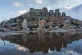 Stone head statues at Nemrut Mountain in Turkey — Stock fotografie
