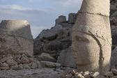 Stone head statues at Nemrut Mountain in Turkey — Stock Photo