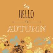 Say Hello to Autumn — Stock Vector