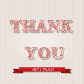 Díkůvzdání pohlednic — Stock vektor