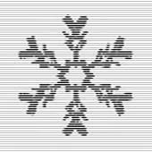 Snowflake, optical illusion — Stock Vector