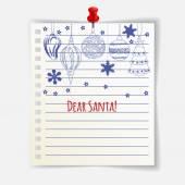 Dear Santa card with cute Christmas balls — Stock Vector