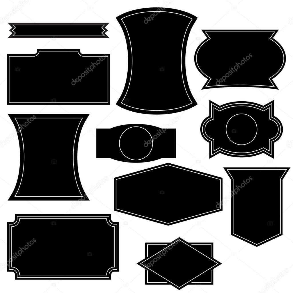 set of vintage logo shapes � stock vector 169 celticlit