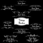 Vector set of retro styled ornamental designs — Stock Vector