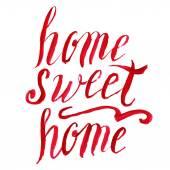 Home sweet home lettering, vector watercolor — Stockvektor
