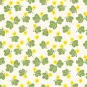 Summer floral seamless vector pattern — Stock Vector