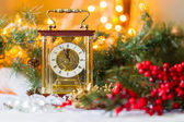 Christmas composition with the Coach watches — Stock Photo