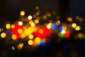 Blurred colored lights — Stock Photo