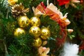New Year and Christmas wreath decorated with flowers, Christmas  — Photo