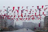 North Korea, Pyongyang, April, 2012 - rainy city on the eve of 1 — Stock Photo