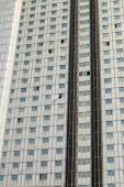 North Korea, Pyongyang, April 2012 - Yanggakdo international hotel — Stock Photo