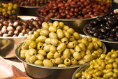Different olive fruits — Stock Photo