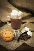 Coffee with marshmallow — Stock Photo