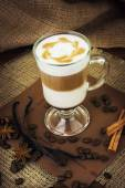 Latte with spices — Stock Photo