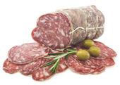 Delicacy smoked sausage — Stock Photo