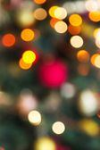 Defocused Christmas tree, a background — Stock Photo