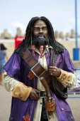 Pirate - a wooden sculpture — Stock Photo