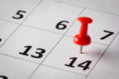 Appointments marked on calendar — Photo