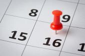 Termine im Kalender markiert — Stockfoto