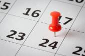 Appointments marked on calendar — Stock Photo