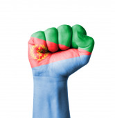 Fist of Eritrea flag painted — Stock Photo